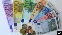 歐元貨幣。