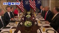 VOA60 America- President Donald Trump lashes out at Germany at the start of the NATO summit in Brussels