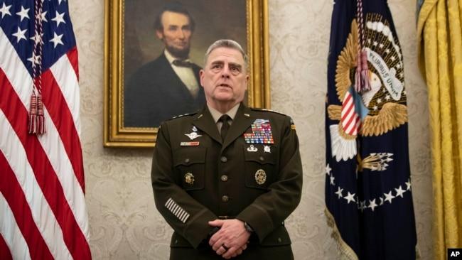 Chủ tịch Hội đồng Tham mưu trưởng Liên quân Hoa Kỳ Mark Milley nói quân đội Hoa Kỳ sẽ không đóng vai trò nào trong bất cứ tranh chấp nào liên quan đến cuộc bầu cử tổng thống.