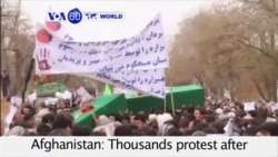 VOA60 World - Afghanistan: Thousands protest violence between rival Taliban factions and Islamic State sympathizers