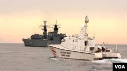 NATO-ს მეორე ნაღმსაწინააღმდეგო შენაერთისა და საქართველოს სანაპირო დაცვის გემები შავ ზღვაში