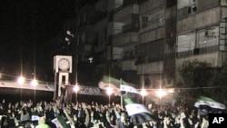 霍姆斯市內的反對總統抗議活動。