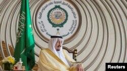 Saudi Arabia's King Salman bin Abdulaziz Al-Saud is seen during the 29th Arab Summit in Dhahran, Saudi Arabia, Apr. 15, 2018. (Courtesy of Saudi Royal Court/Handout via Reuters)