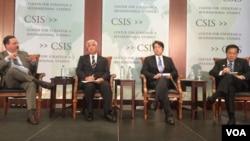 日本眾議員,前日本防衛大臣中谷元(Gen Nakatani)、前防衛大臣小野寺五典(Itsunori Onodera)以及前防衛副大臣長島昭久(Akihisa Nagashima)星期一在華盛頓智庫戰略與研究中心就日本在川普時代的北韓政策發表演講。