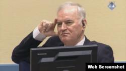 Arhiva - Ratko Mladić u sudnici Haškog tribunala, 22. novembra 2017.