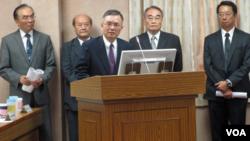 台灣反恐單位的官員在立法院接受質詢。