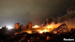 Ostaci fabrike veštačkih đubriva u mestu Vest, u Teksasu, uništenoj u snažnoj eksploziji
