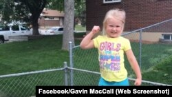 """Lylah MacCall gets ready to run her """"American Ninja Warrior"""" style backyard obstacle course. Her video has over 60 million views."""