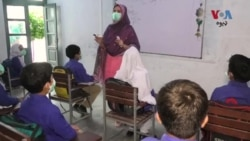 په پاکستان کې د کرونا وبا د څلورمې څپې په مهال سکول ته د تلونکو ماشومانو میندې پلرونو فکر منده دي