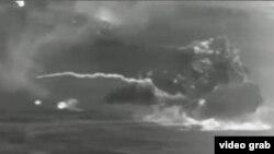 韓戰戰場火海(視頻截圖)