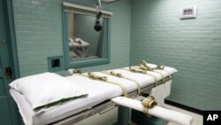 미국 텍사스주의 사형집행실. (자료사진)