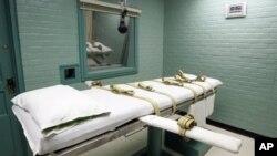 Ruang hukuman mati dengan suntikan (injeksi) di Huntsville, Texas (foto: dok). Di Amerika baru ada 17 dari 50 negara bagian yang menghapus hukuman mati.