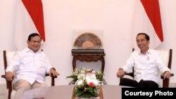 Presiden Joko Widodo dan Prabowo Subianto, Kamis sore, 11 Oktober 2019, kembali bertemu di Istana Merdeka, Jakarta. (Foto courtesy: Setpres RI)