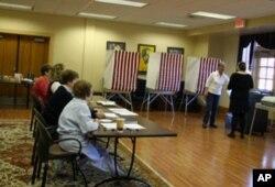 宾州的一个投票站