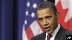 오바마 대통령이 이라크 사태에 대한 입장을 밝히고 있다.