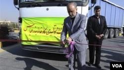El director de Energía Atómica de Irán, Ali Akbar Salehi, durante el anuncio de que el país es auto suficiente en todo el ciclo de combustible nuclear.