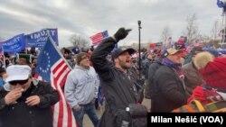 Protest Trampovih pristalica kod Kapitola