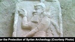 Bas relief de Tell Ajaja en Syrie, détruit par le groupe Etat islamique.