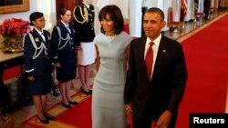 Prezident Barak Obama va rafiqasi Mishel