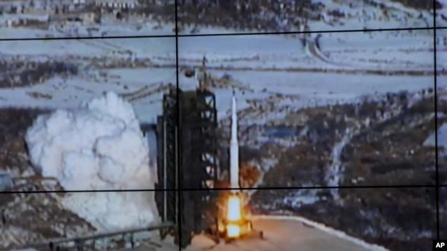 Snimak lansiranja severnokorejske rakete koji je emitovala savernokorejska centralna novinska agencija