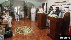 کنفرانس خبری طالبان در قطر