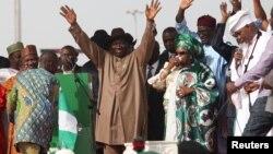 Shugaban Najeriya na jam'iyyar PDP yayin da yake fafitikar neman zabe