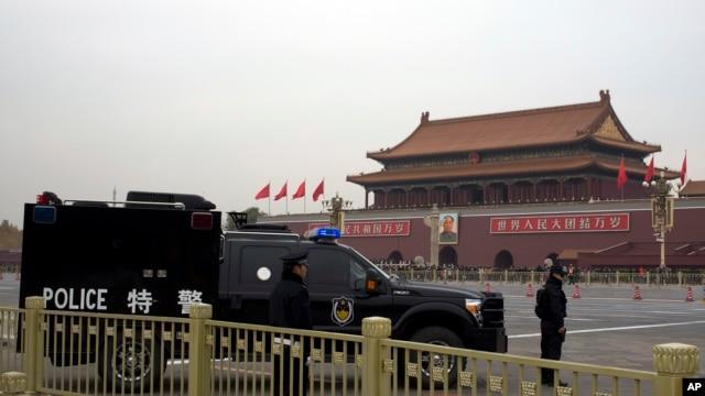 11月9日,北京的天安门广场