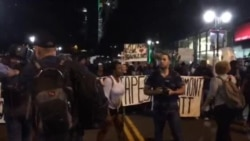 Protesters March in Charlotte, North Carolina, for a 4th Night