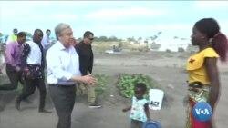 Guterres termina visita a Moçambique, com apelo sobre as alterações climáticas