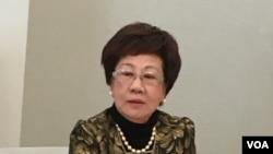 前台灣副總統呂秀蓮 (美國之音鍾辰芳拍攝)