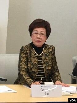 前台湾副总统吕秀莲 (美国之音钟辰芳拍摄)