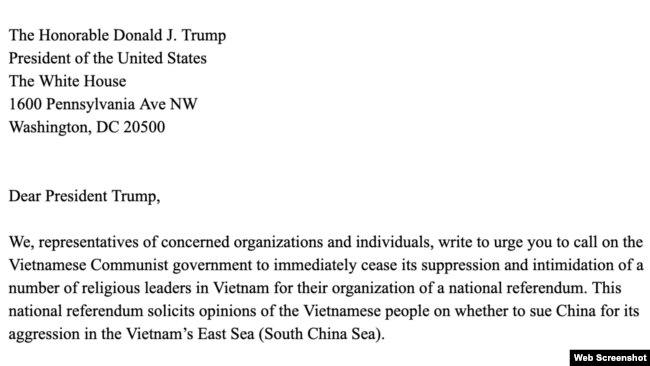 Bức thư sẽ được gửi tới Tổng thống Donald Trump vào ngày 5/6.