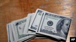 U.S. dollar bills.