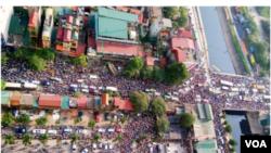 Cảnh tắc đường ở Hà Nội