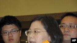 蔡英文接受媒體採訪(資料圖片)