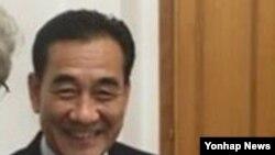 문정남 주이탈리아 북한 대사 [안토니오 라치 이탈리아 상원의원 트위터 캡처]