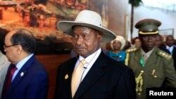 Presiden Uganda Yoweri Museveni di Addis Ababa, 30 Januari 2014 (Foto: dok).