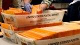 Arhiva - Izborni zvaničnici sortiraju glasove na daljinu i rane glasove tokom brojanja glasova u Gradskoj kući Bostona, 2. novembar 2020.