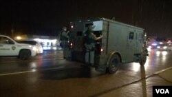 8月21号 尼克森州长宣布撤出国民警卫队。 (美国之音杨晨拍摄)