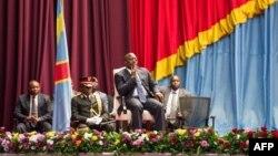 Joseph Kabila lors d'une séance spéciale du Parlement , Kinshasa, RDC, le 15 novembre 2016.