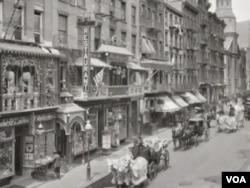 1858年,第一位中國移民落甚曼哈頓下城