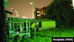 Rumah lokasi ledakan bom rakitan di Tanah Abang, Jakarta, 8 April 2015. (Foto: VOA/Andylala)