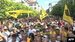 Učesnici protesta u Podgorici