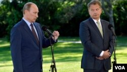 Владимир Путин и президент Финляндии Саули Ниинистё