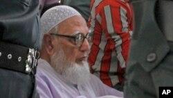 Former chief of Bangladesh's Islamic party Jamaat-e-Islami Ghulam Azam.
