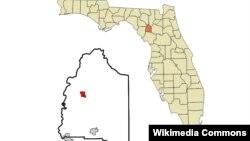 Letak kota Bell di negara bagian Florida, AS (foto: ilustrasi).