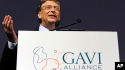 Bill Gates speaks at the Global Alliance for Vaccines and Immunization, GAVI, conference in London. (File)