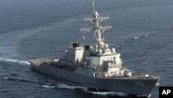 Tàu chiến Mỹ USS Benfold (DDG 65) trong vùng biển Andaman, ngoài khơi đảo Sumatra của Indonesia.