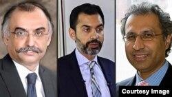حفیظ شیخ،ڈاکٹر رضا باقر اور شبر زیدی (فائل فوٹوز)