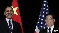Барак Обама и Ху Цзиньтао